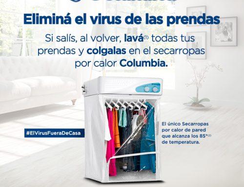 Columbia Electrodomésticos ayuda a eliminar el virus de las prendas