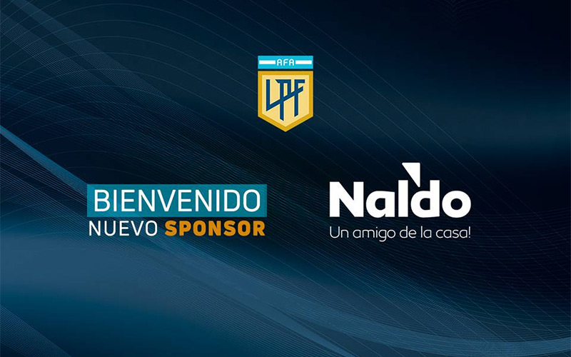 Naldo será sponsor de la nueva Liga Profesional de fútbol