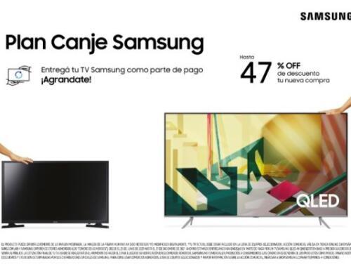 """""""Plan Canje Samsung"""": Más beneficios y nuevos productos"""